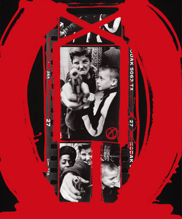 gun 1 ny 1955 painted 2005 c william klein