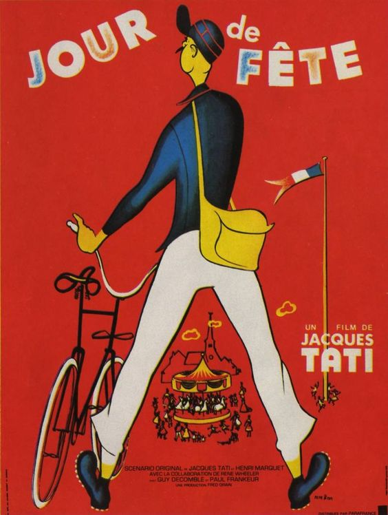 jour de fete Jacques-Tati-French-filmmaker-actor-screenwriter-cool-dude-Hulot